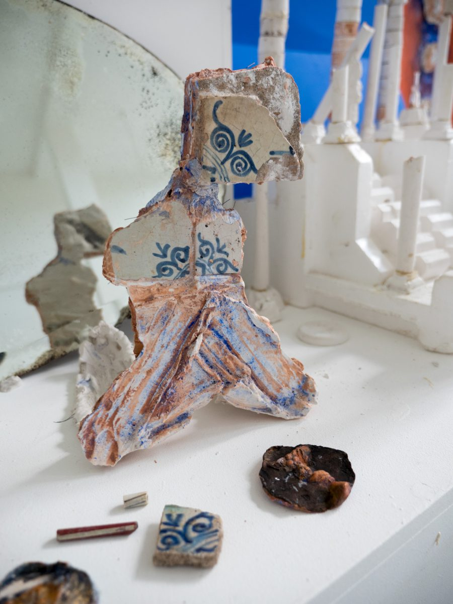 Mustafa Sener Assembled ceramic figure 2 FUTURARCHEOLOGY at Breed Art Studios