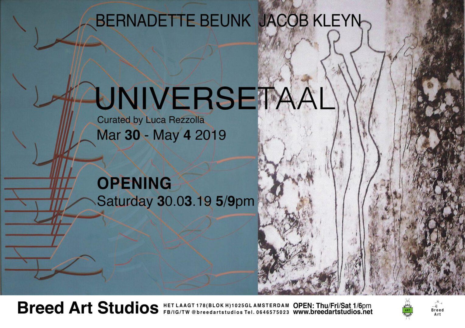 Bernadette Beunk - Jacob Kleyn UNIVERSETAAL at Breed Art Studios