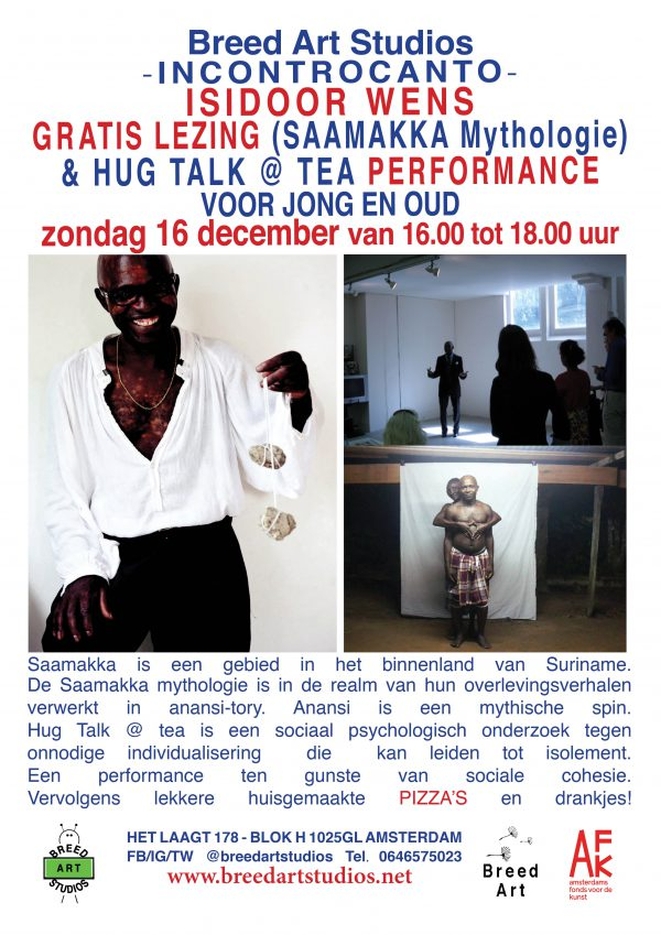 upcoming Isidoor Wens lecture and performance at Breed Art Studios
